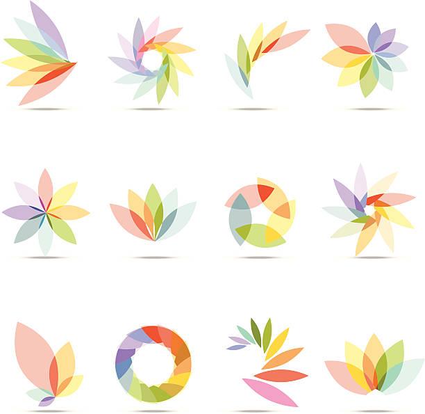 Abstract Floral Design Elements vector art illustration