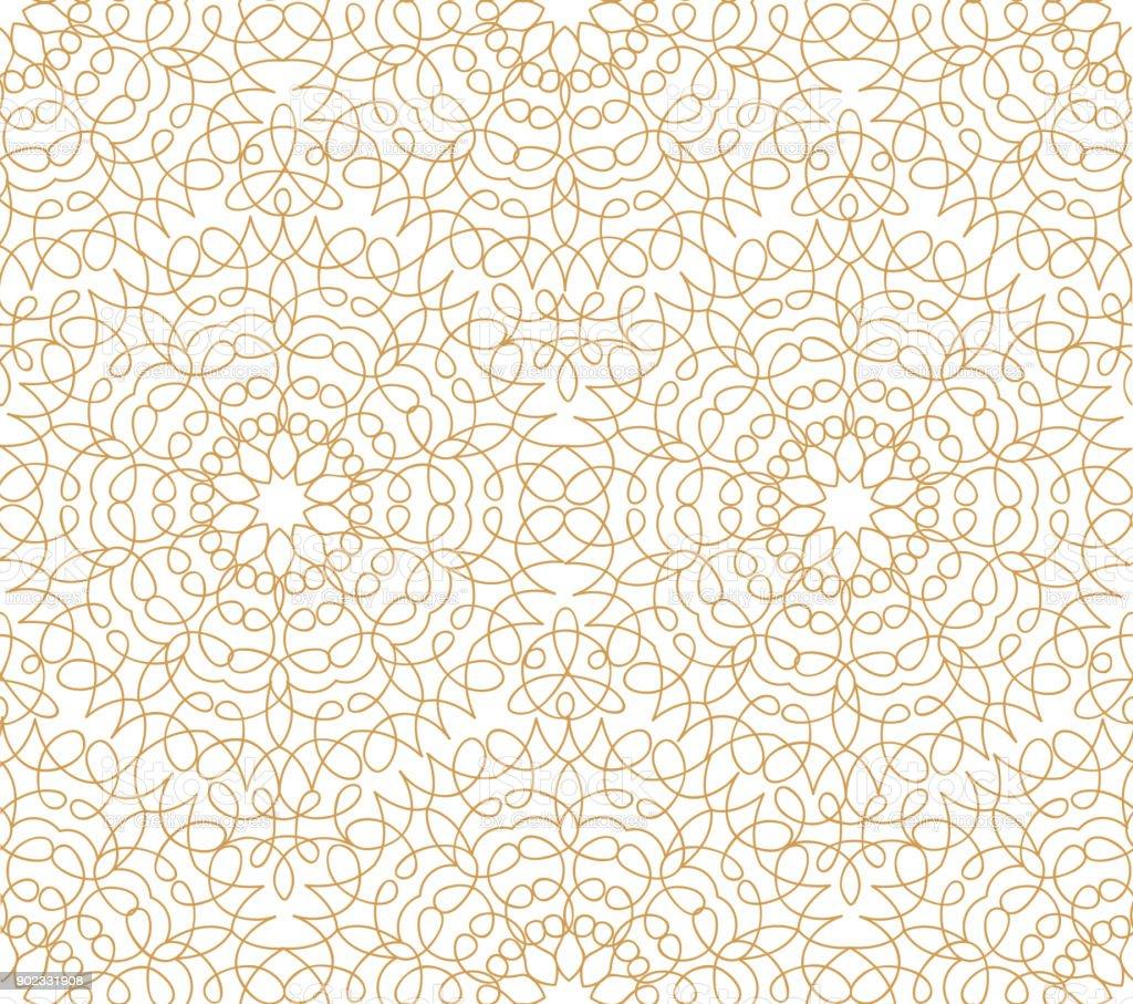 Línea Floral Abstracto Oriental De Patrones Sin Fisuras Ornamento De ...