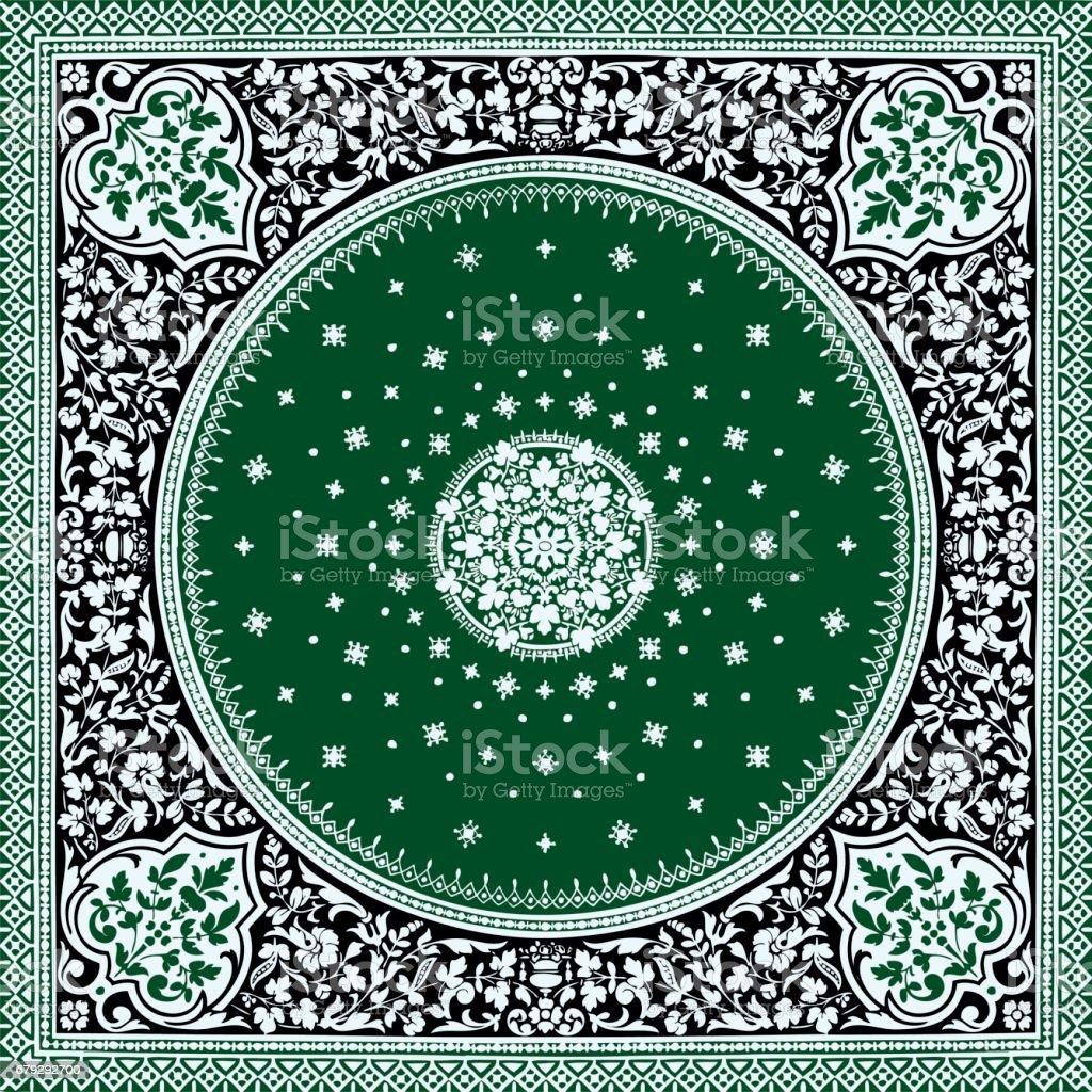 Abstrakten Floralen Mosaik Fliesen Vintage Ornament Nahtlose Grun