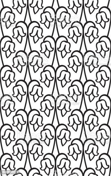 Primitive Simple Retro Seamless Pattern With Flower Stock Illustration Download Image Now Istock