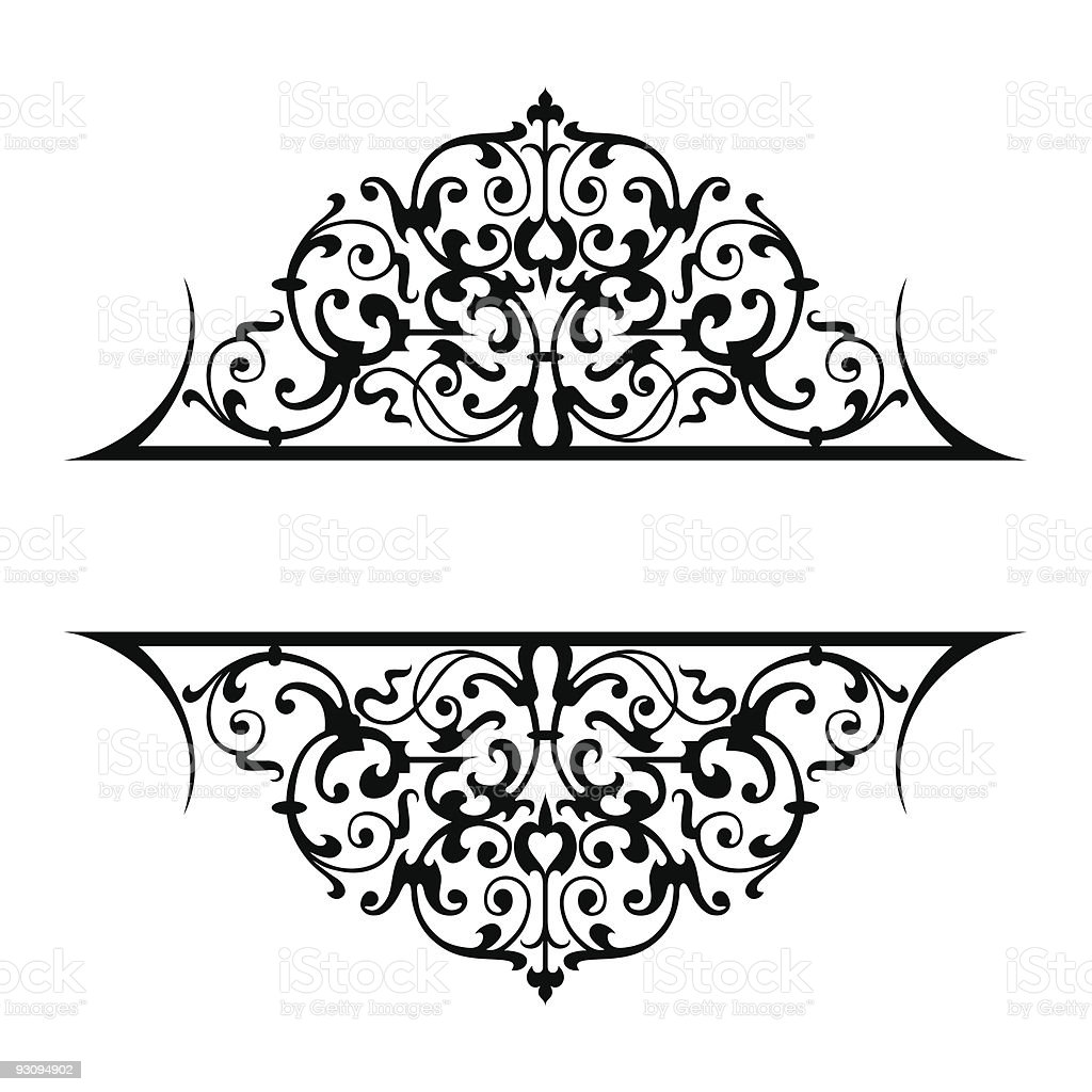Abstract Floral Ornament royalty-free stock vector art