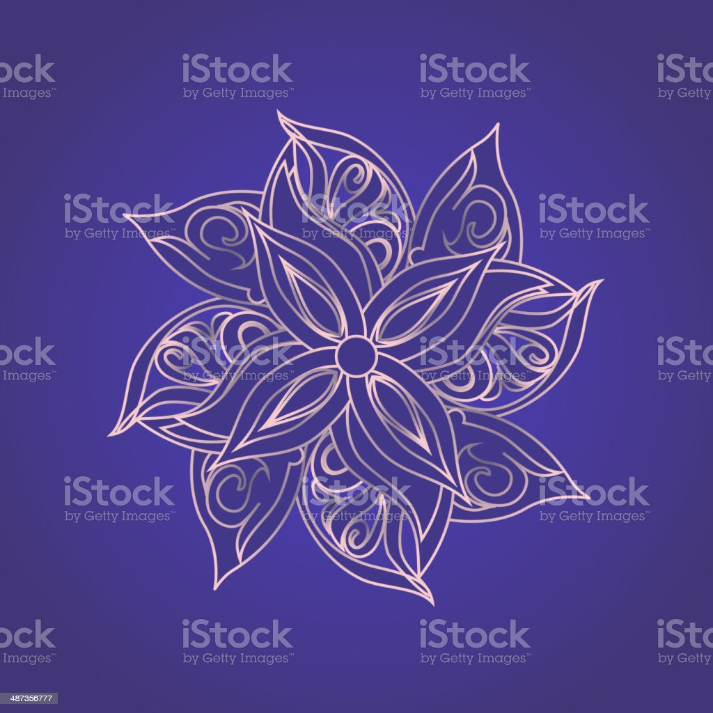 Abstract floral pattern against purple background royalty-free abstract floral pattern against purple background stock vector art & more images of abstract