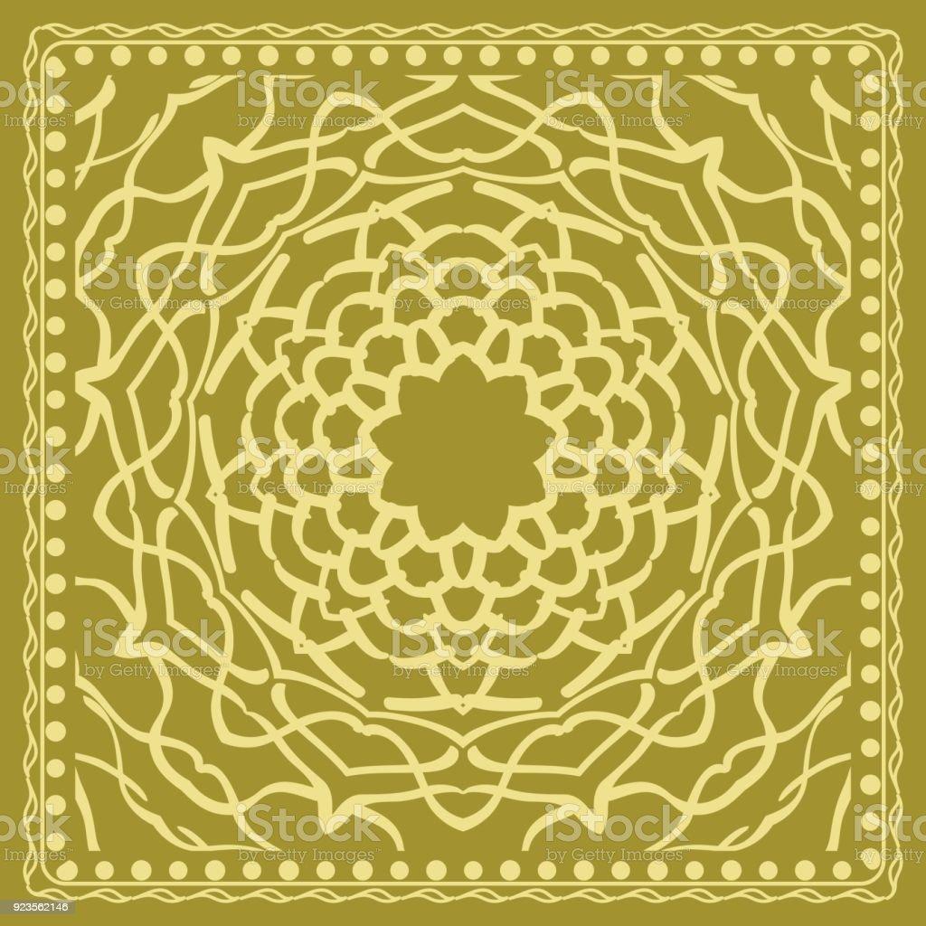 Abstrakte Blumenmuster. Geometrie, Mandala Design. Vektor. Für Einladung,  Braut Hochzeit,