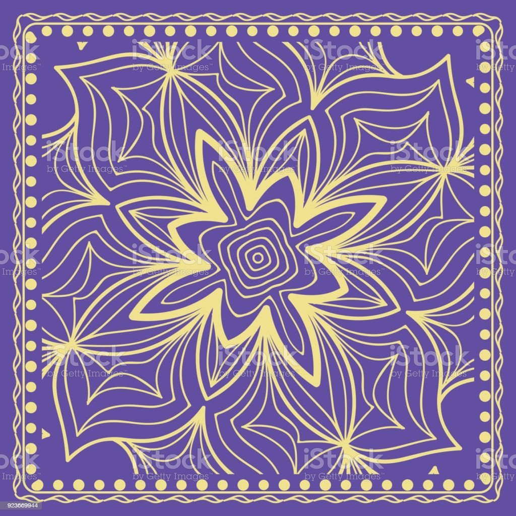 Abstract Floral Pattern Geometry Mandala Design Vector For
