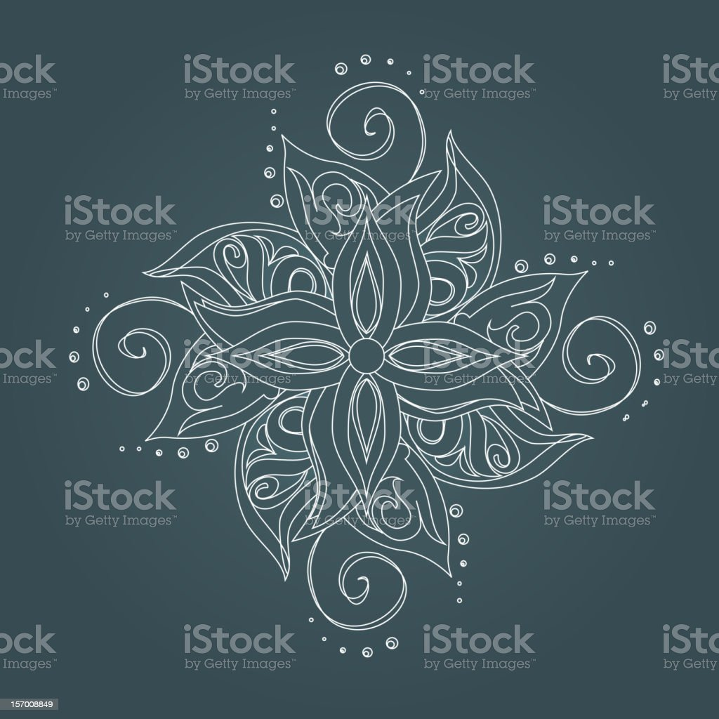 Abstract floral pattern royalty-free stock vector art