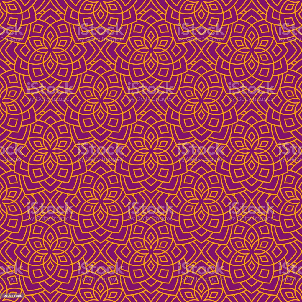 Abstract floral pattern vector art illustration