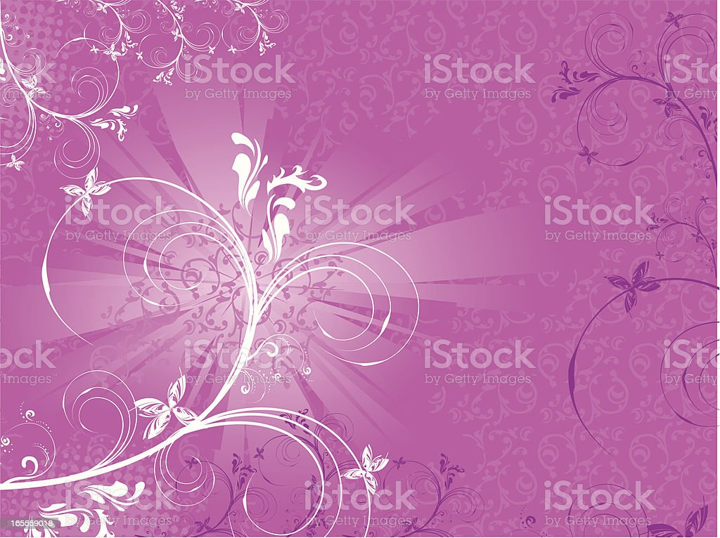 Abstract Floral Pink royalty-free stock vector art