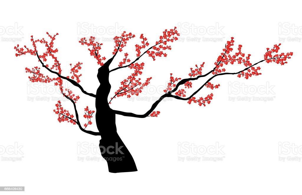 royalty free silhouette of cherry blossom tree branch clip art rh istockphoto com cherry blossom tree branch clip art