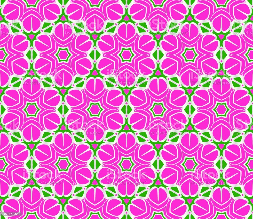Abstract Floral Seamless Pattern Geometry Design Vector Texture For