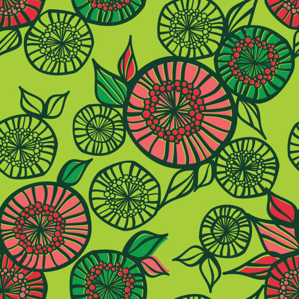 Abstract Floral Seamless Pattern vector art illustration