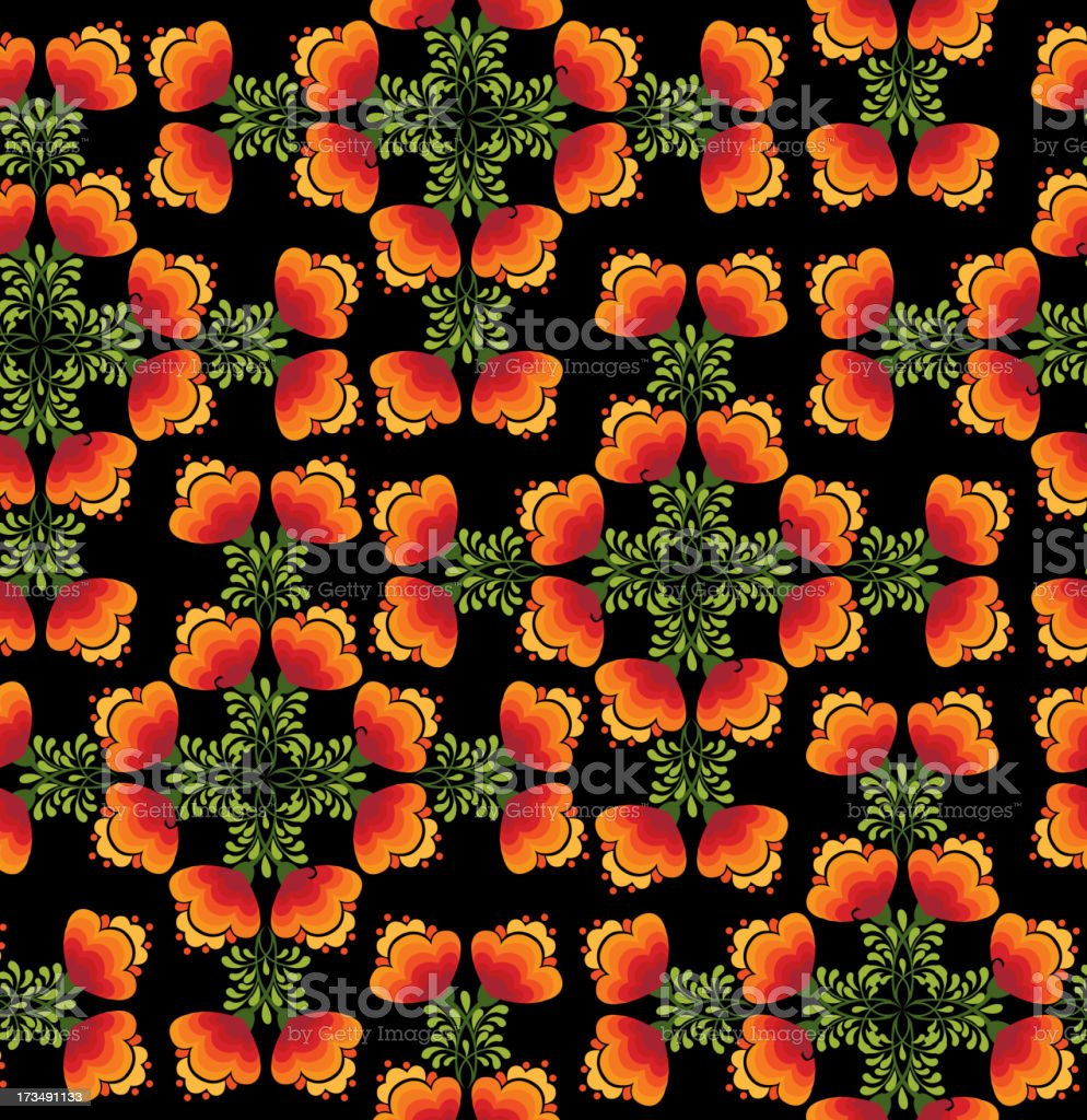 abstract floral seamless vector pattern in folk Russian style. royalty-free abstract floral seamless vector pattern in folk russian style stock vector art & more images of abstract