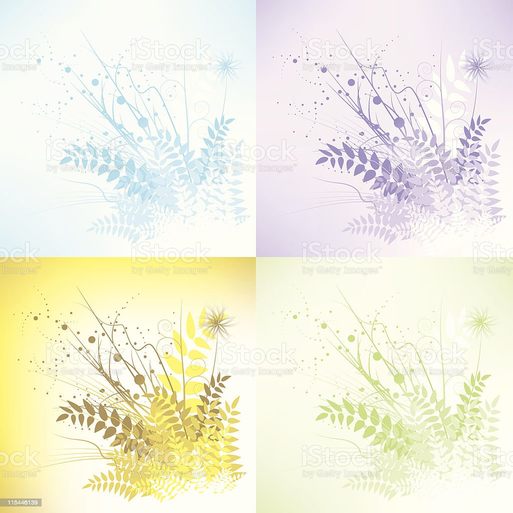 Abstract floral splash royalty-free stock vector art