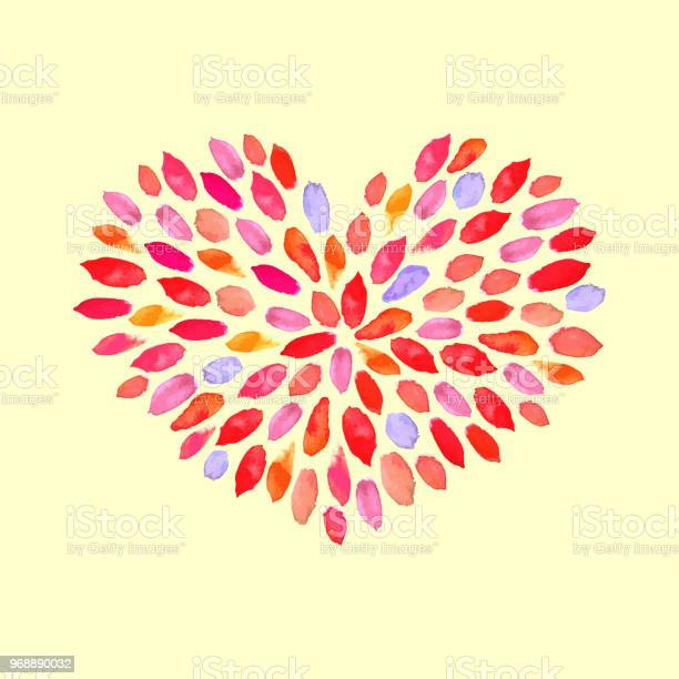 Abstract floral watercolor pattern in a heart shape vector hand vector id968890032?b=1&k=6&m=968890032&s=612x612&h=ii4b8pkf5mk02kqfd2sznhnjpssegks4mu rcodzsog=