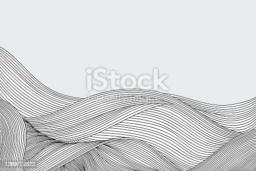 istock Abstract flow doodle background 1269722522