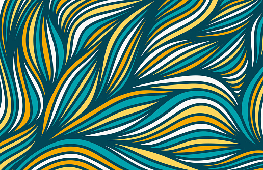 Hand drawn abstract line art background. EPS10 vector illustration, global colors, easy to modify.