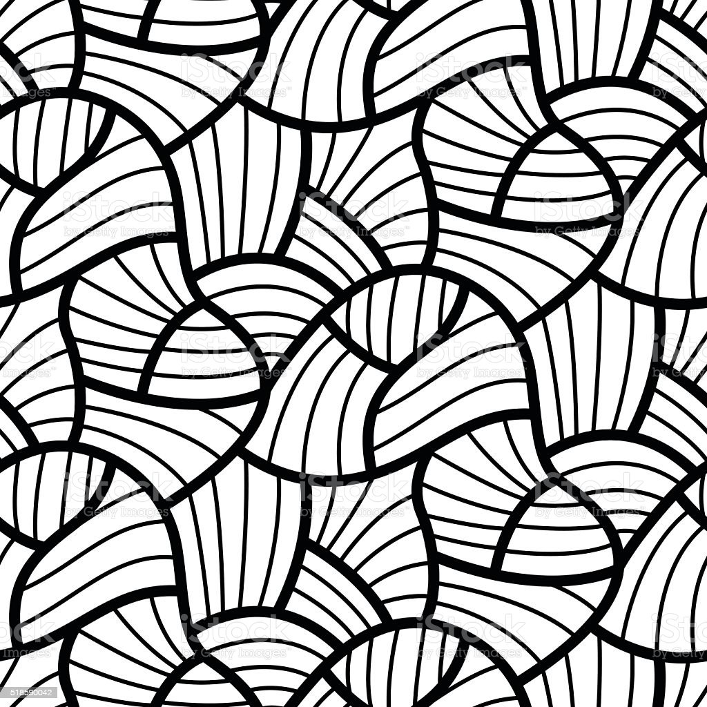Abstract Line Art Design : Abstract flow lines seamless pattern modern design stock