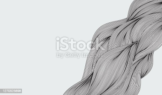 istock Abstract flow wave doodle 1270525898