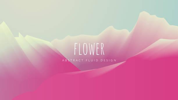 Abstract Flower Background vector art illustration