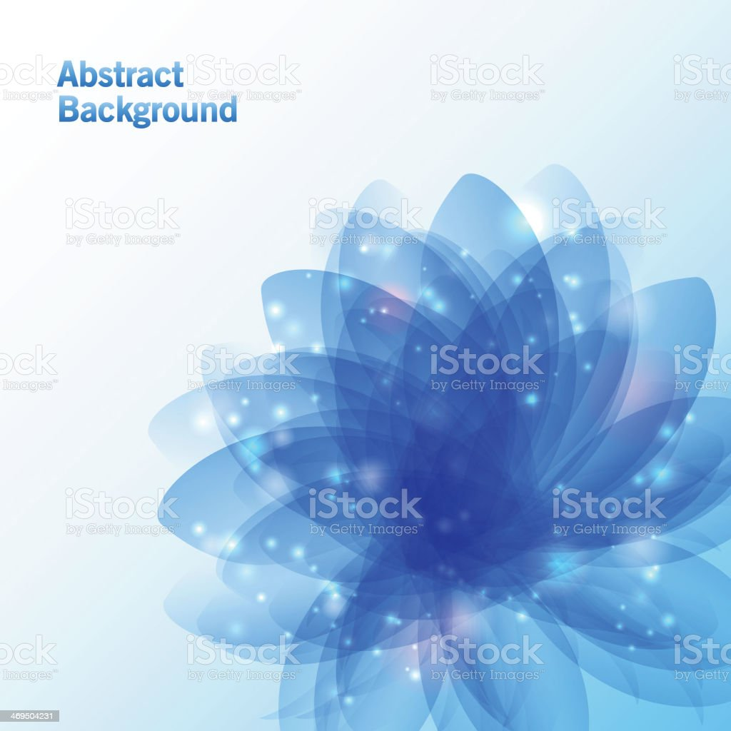 Abstract flower background vector art illustration