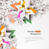 Abstract geometric 3d flower background with a space for your text. EPS 10 vector illustration, contains transparencies. High resolution jpeg file included(300dpi).