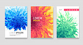 Abstract flower covers set