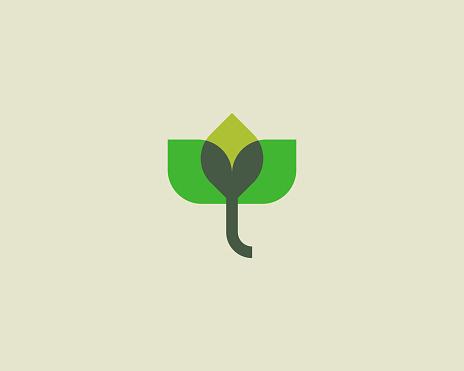 Abstract flower elephant logo icon design. Elegant lotus vector logotype.