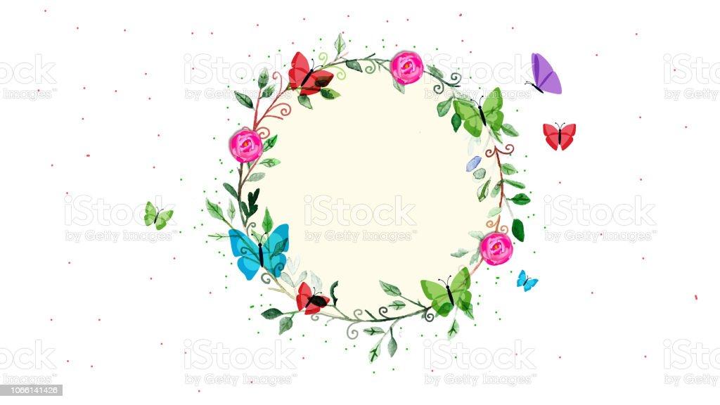 Resumen patrón de flores para tarjetas de felicitación - ilustración de arte vectorial