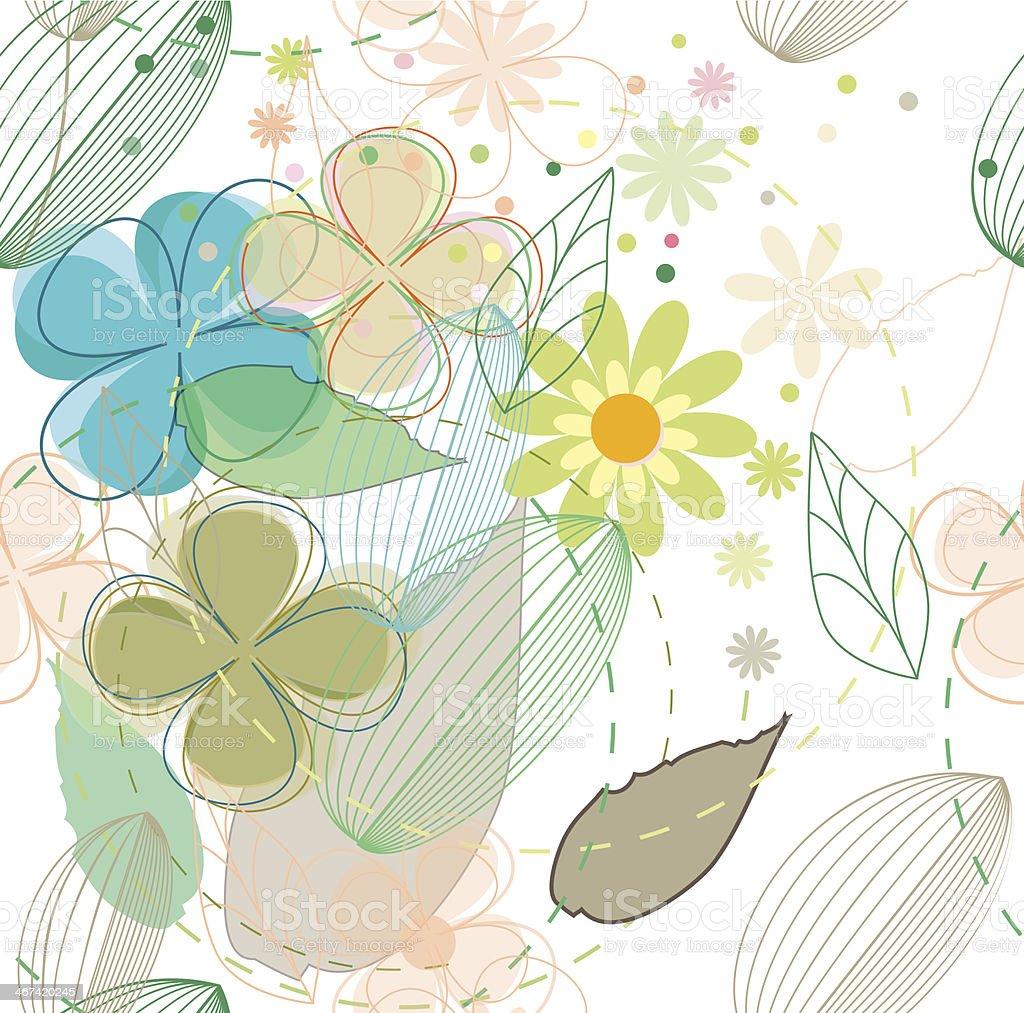 Abstract flower seamless background vector vector art illustration