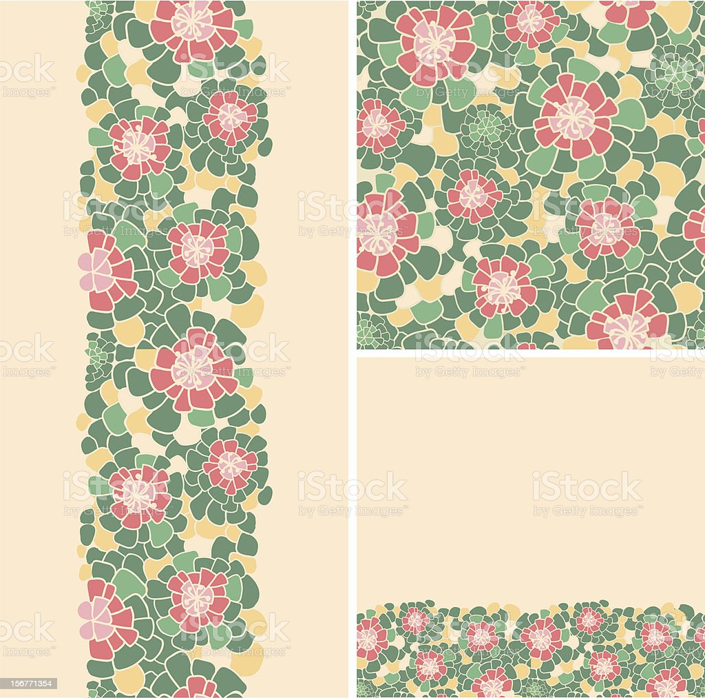 Abstract flowers texture seamless patterns set royalty-free abstract flowers texture seamless patterns set stock vector art & more images of backgrounds