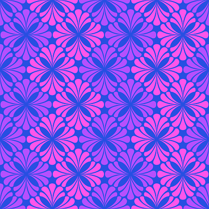 abstract flowers. vector seamless pattern. floral repetitive background. fabric swatch. wrapping paper. continuous print. design element for home decor, apparel, textile. modern stylish texture