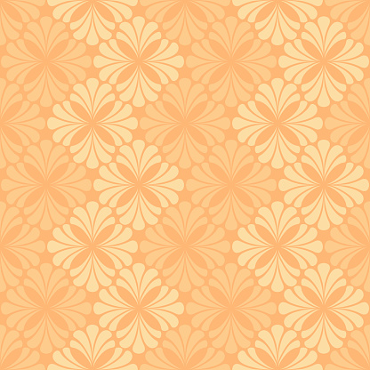 abstract flowers. vector seamless pattern. yellow repetitive background. fabric swatch. wrapping paper. continuous print. design element for home decor, apparel, textile. modern stylish texture