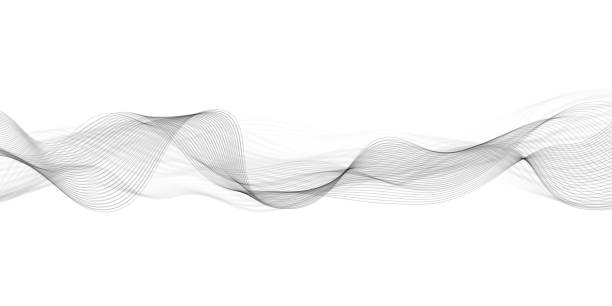 Abstract flowing banner Vector abstract wave pattern blurred motion stock illustrations