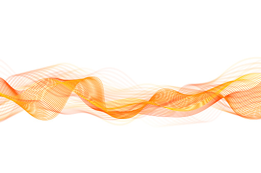 Abstract flowing banner