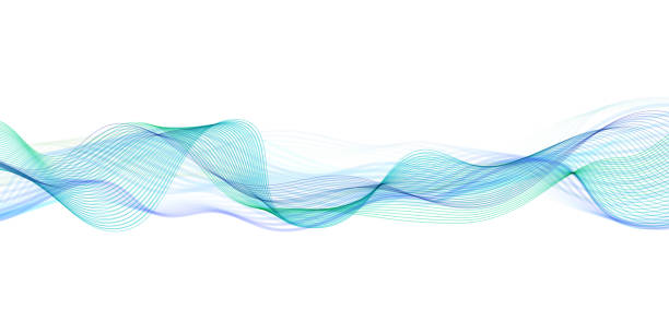 Abstract flowing banner Vector abstract wave pattern sine wave stock illustrations