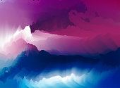 abstract flowing gradient cloudy landscape background
