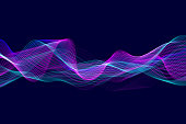 istock Abstract flowing technology background 1250951722