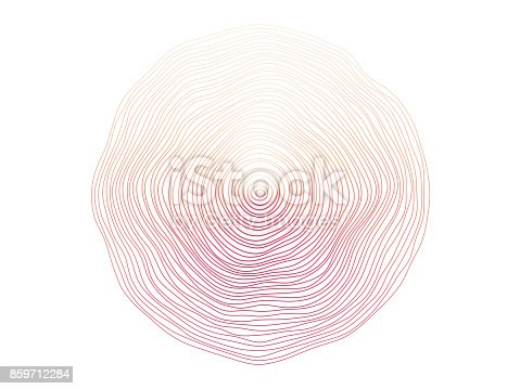 Abstract flowing wave circle lines.