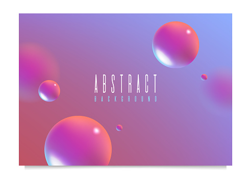 Abstract Fluid 3D Background with Liquid Modern Shapes . Isolated Vector Elements