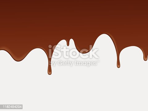 istock Abstract fluid chocolate background. 1182454204
