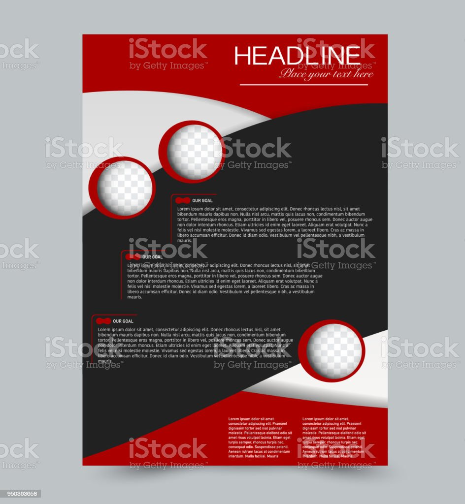 abstract flyer design background brochure template can be used for
