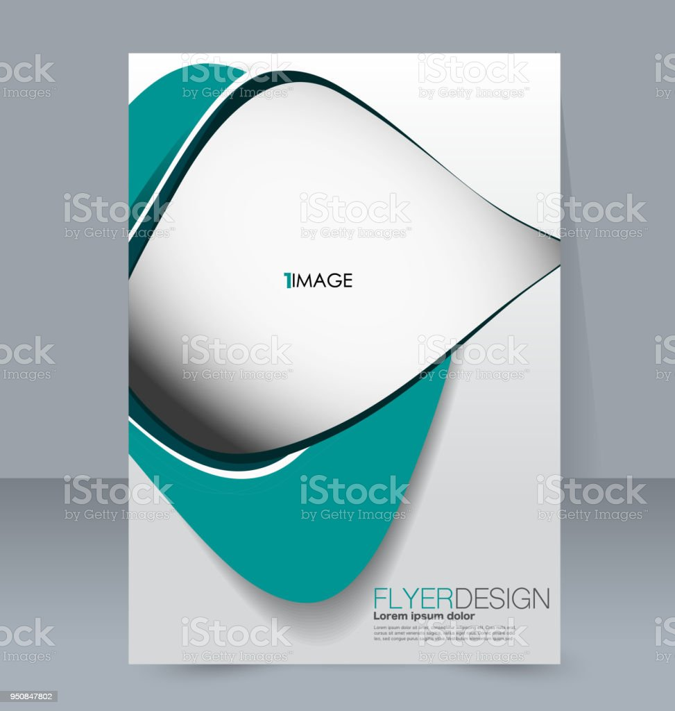 Abstract Flyer Design Background Brochure Template For