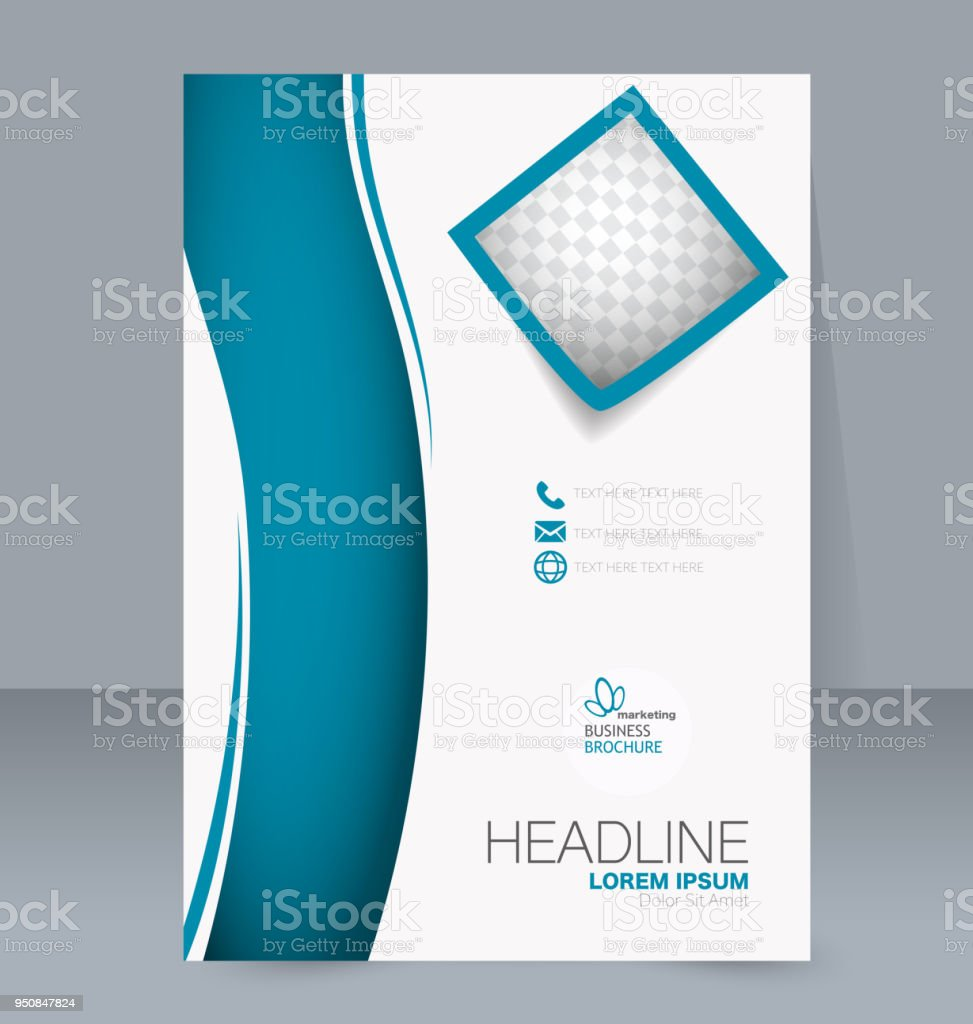 Abstract Flyer Design Background Brochure Template For Magazine