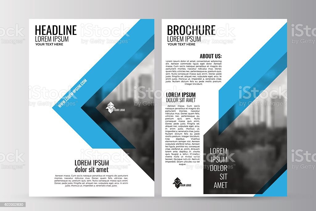 Abstract Flyer Design Background Brochure Vector Image Flyer