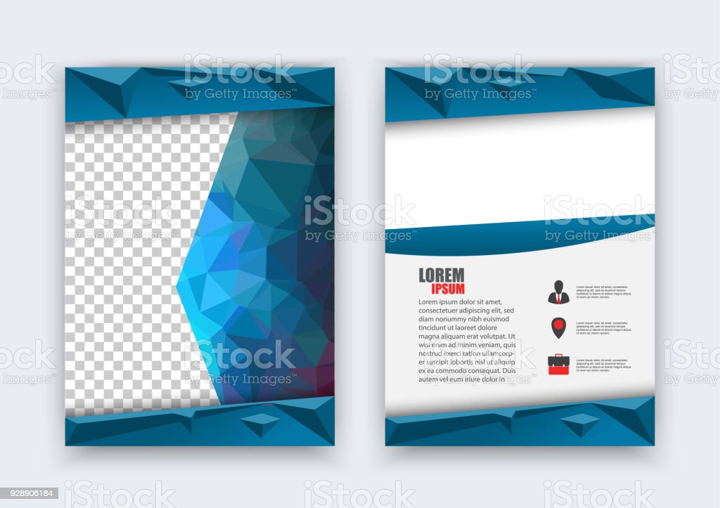 Abstract Flyer Design Background Vector Brochure Layout Template Size A4 Front