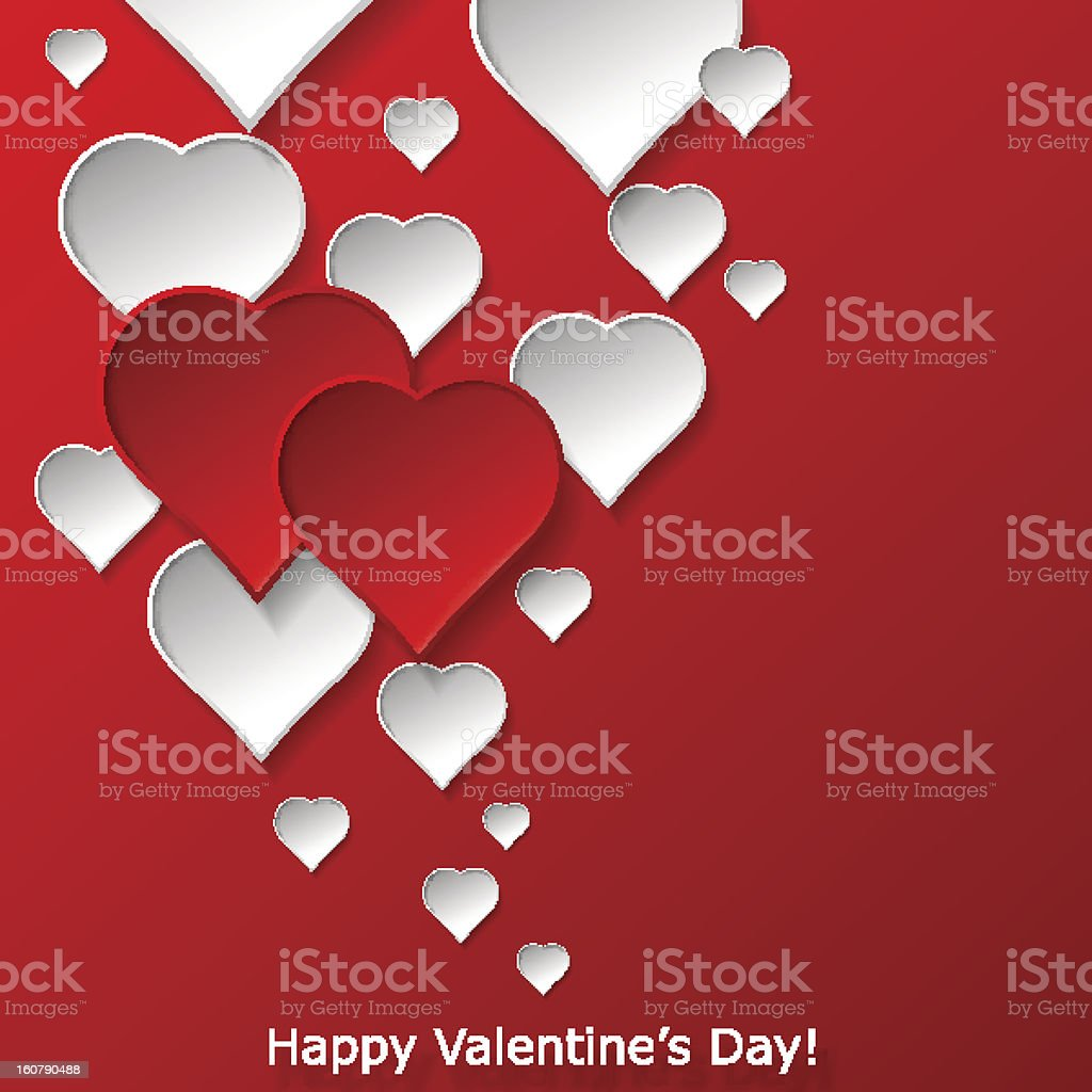 Abstract flying hearts on red background royalty-free abstract flying hearts on red background stock vector art & more images of abstract