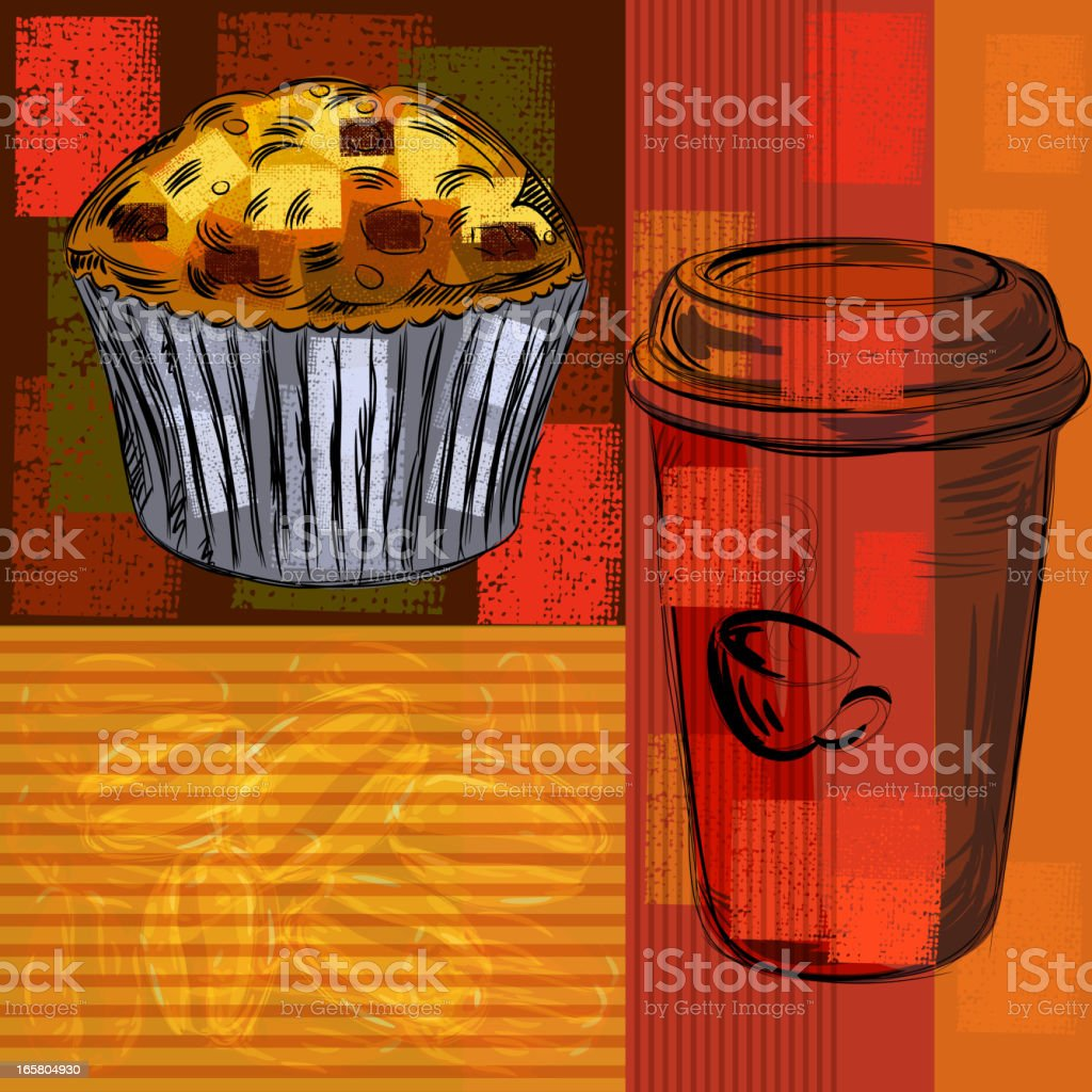 Abstract Food Background royalty-free stock vector art
