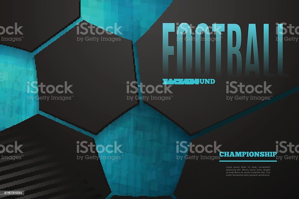 Abstract football background vector art illustration