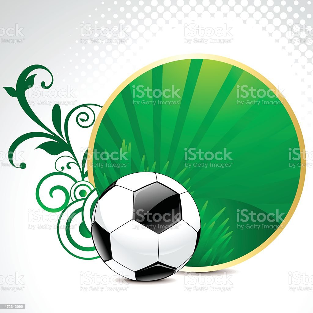 abstract football background with floral royalty-free abstract football background with floral stock vector art & more images of art