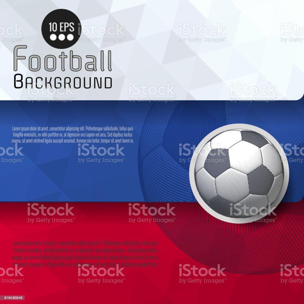 Plantilla gráfico de Resumen fútbol BG - ilustración de arte vectorial