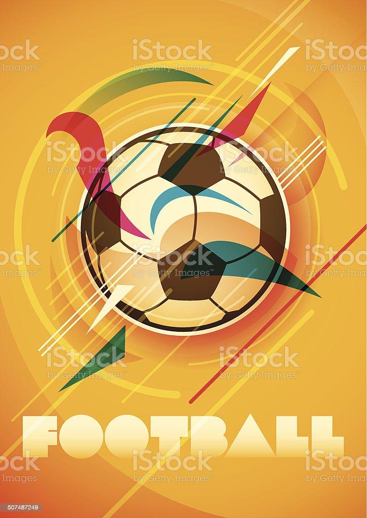 Abstrato design de cartaz de futebol. - ilustração de arte em vetor